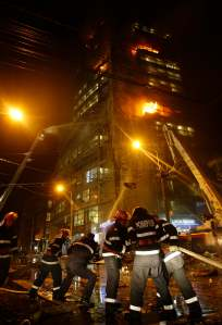 Pompierii la Armeneasca Alpha Bank